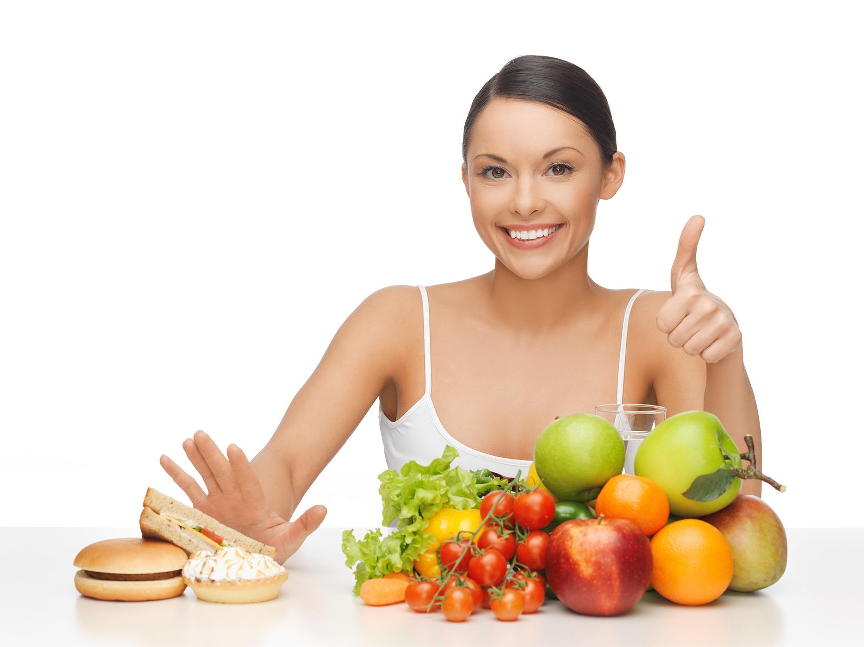 Mujer aprendiendo a que comer