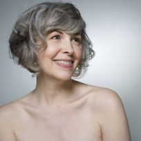 Mature woman smiling, close-up