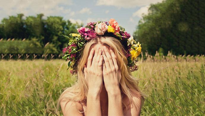Escondiendose de la primavera