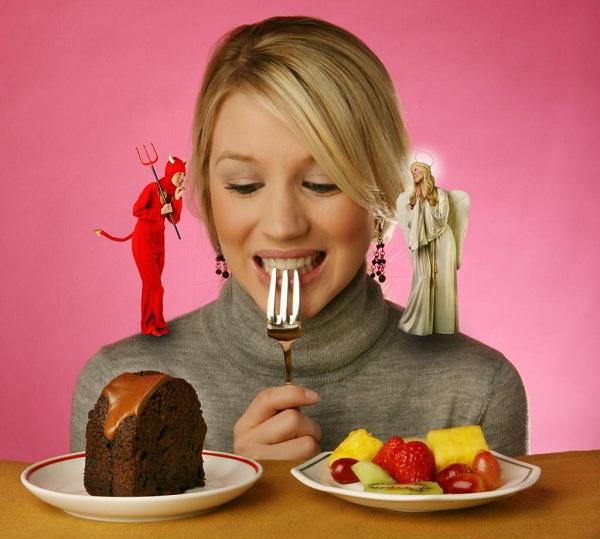Mujer con dudas alimentación
