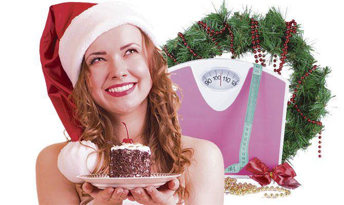 Mujer y aumento de peso en navidad
