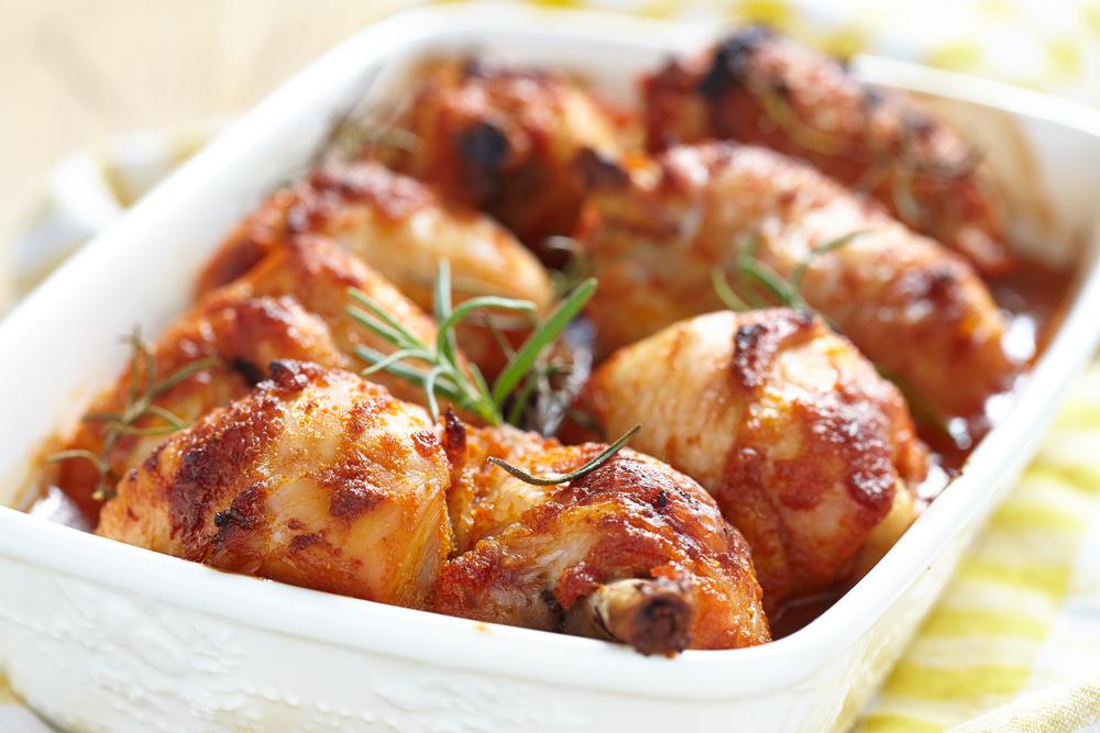 muslos de pollo con miel