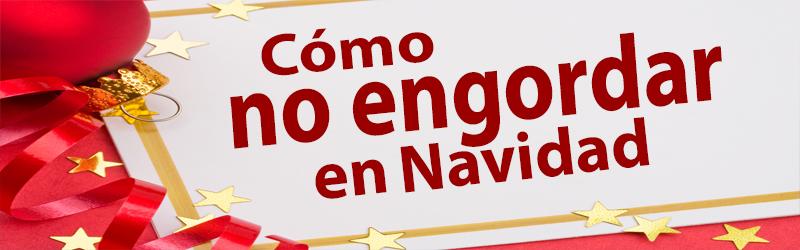 Texto en letras rojas de cómo no engordar en navidad