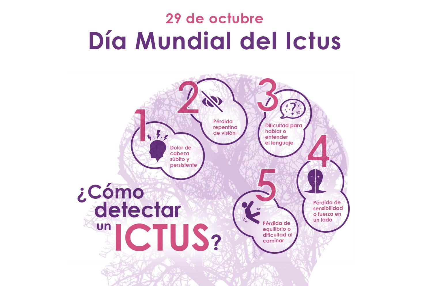 Leyenda del dia mundial del ictus con consejos
